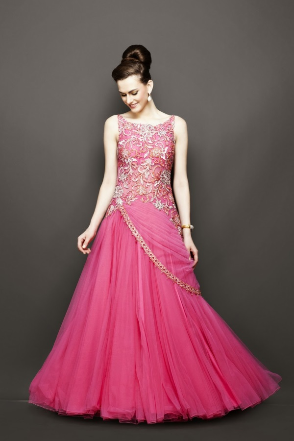 Indian evening gowns for wedding reception 2016 2017 b2b for Dresses for an evening wedding