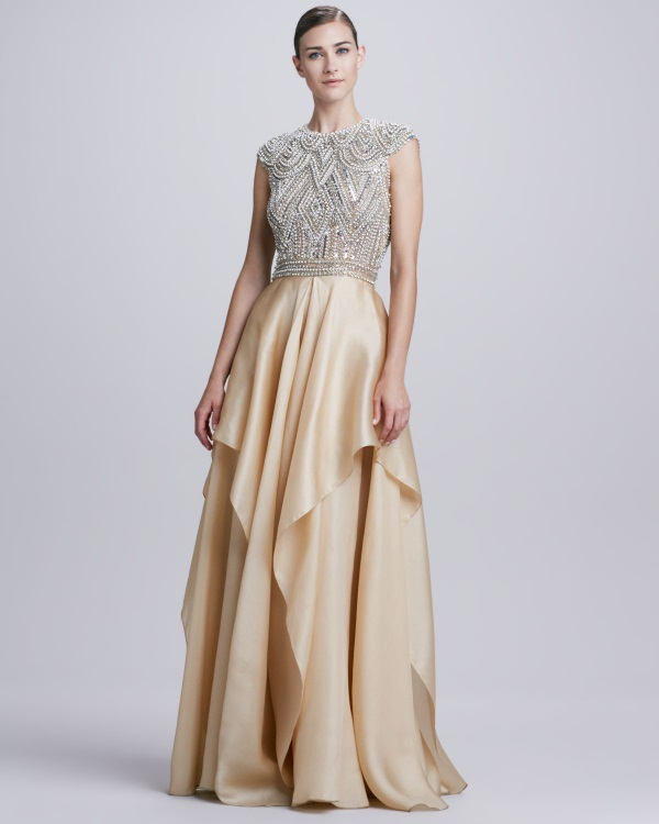 Designer evening gowns for wedding reception 2016 2017 for Expensive wedding dress brands