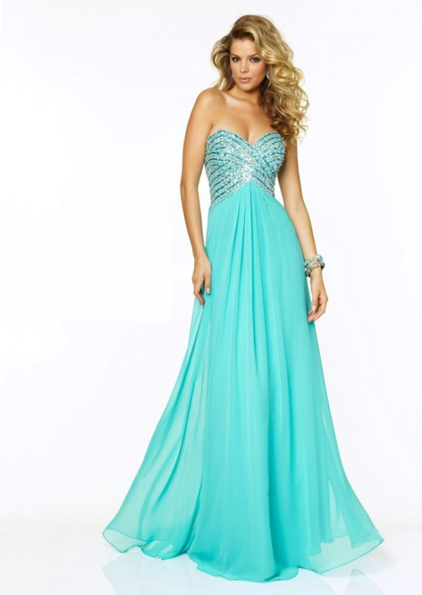 Turquoise mermaid prom dress 2017 2018 b2b fashion for Turquoise and white wedding dresses