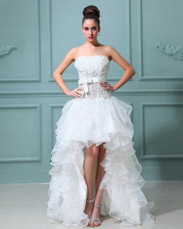 Short beautiful wedding dress 2016-2017 | B2B Fashion