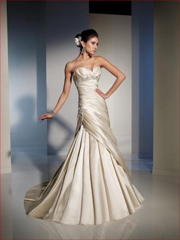 Gold wedding dress 2017 2018 b2b fashion for Gold vintage wedding dresses