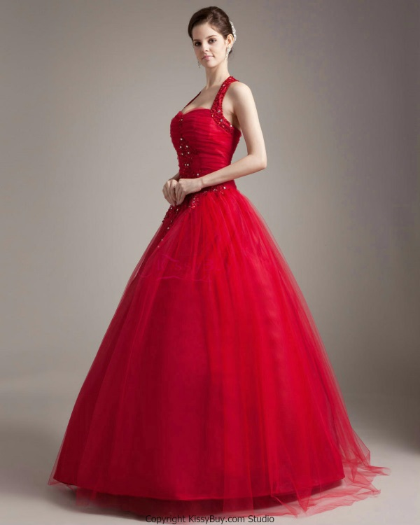 2019 year looks- Red gowns ball with sleeves