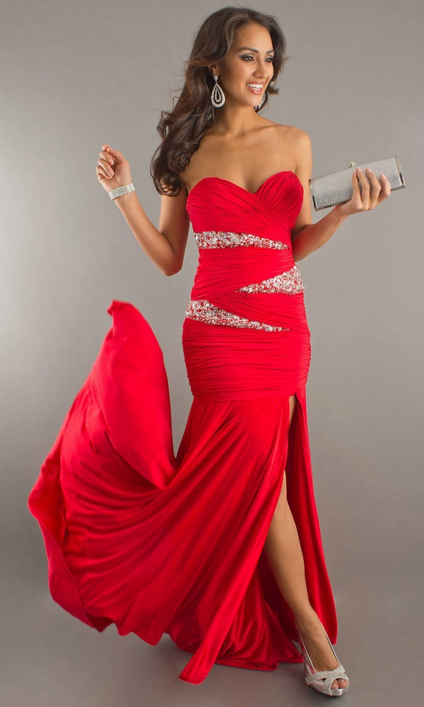 Red Ball Gowns With Sleeves 2017 2018 B2b Fashion