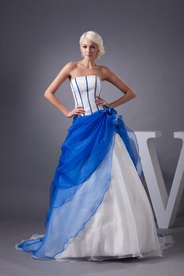 White and royal blue wedding dresses 2017-2018 | B2B Fashion