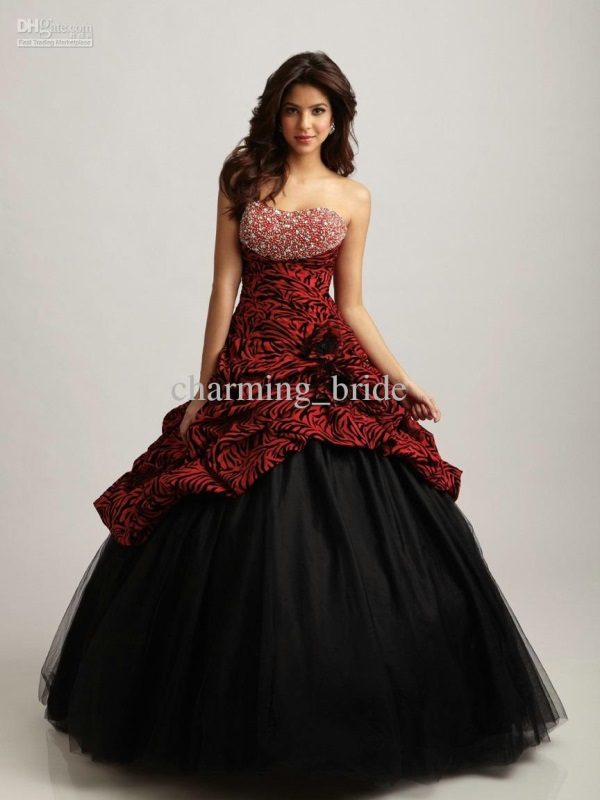 Quinceanera Dresses red and gold looks | B2B Fashion