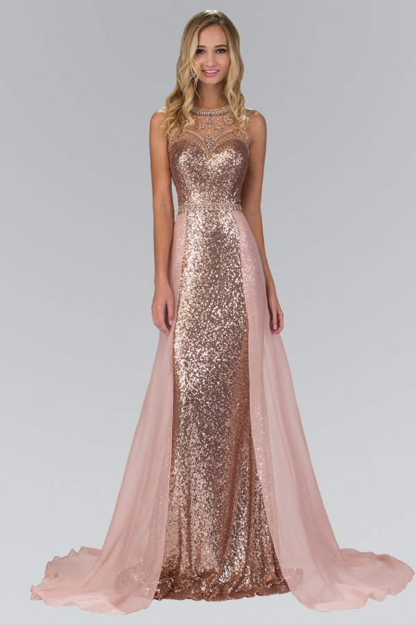 Rose gold prom dress 2016-2017