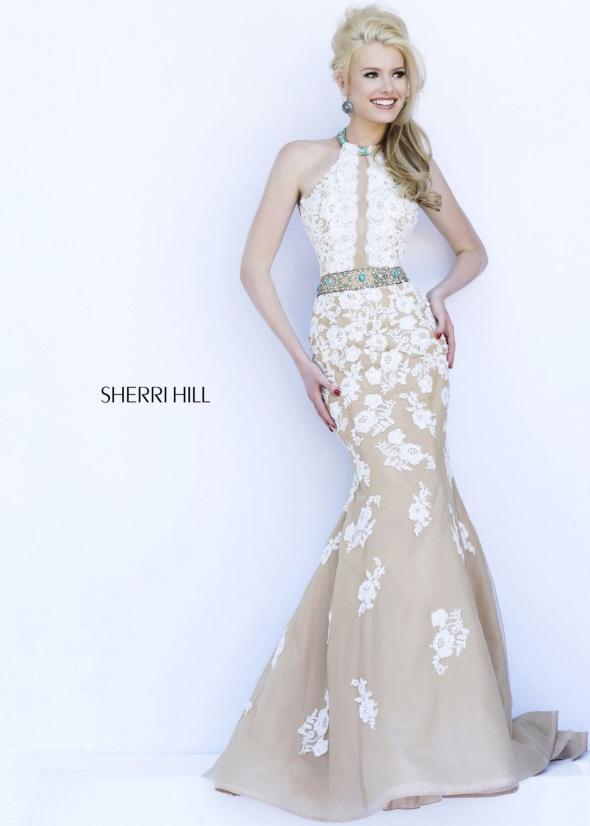 White designer cocktail dress