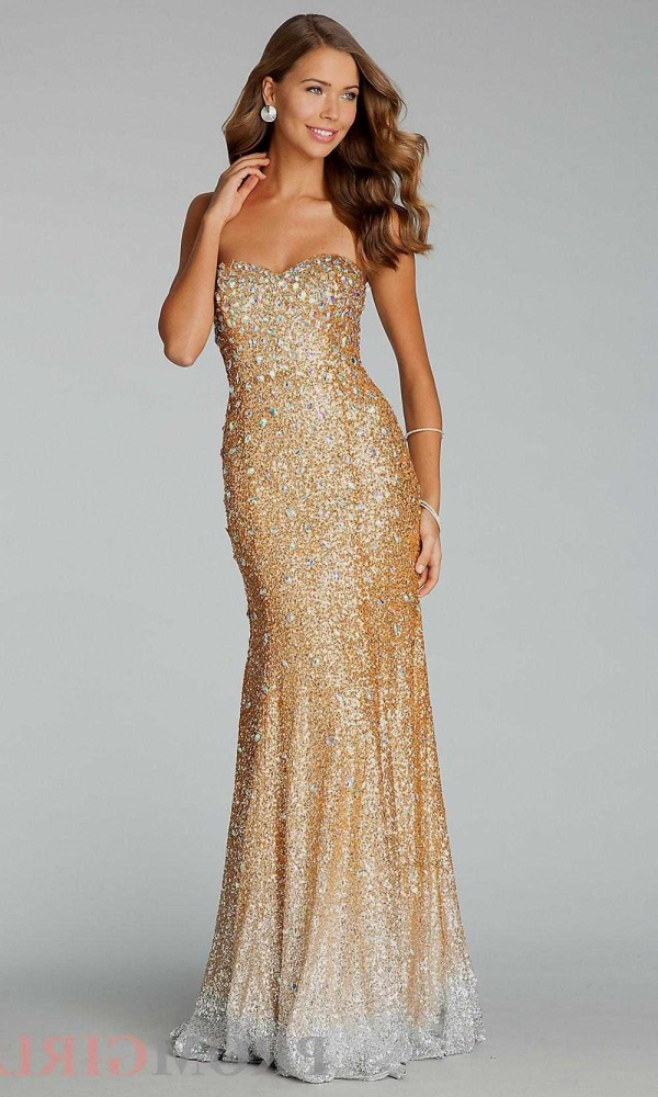 Rose gold prom dress 2016-2017