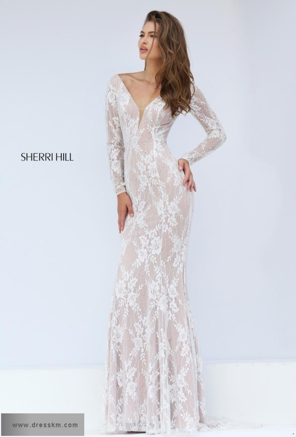 White Lace Prom Dress Sherri Hill 2017 2018 B2b Fashion