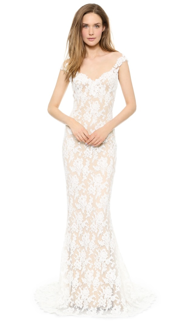 reem acra blush lace wedding dress 2016 2017 b2b fashion ForReem Acra Lace Wedding Dress