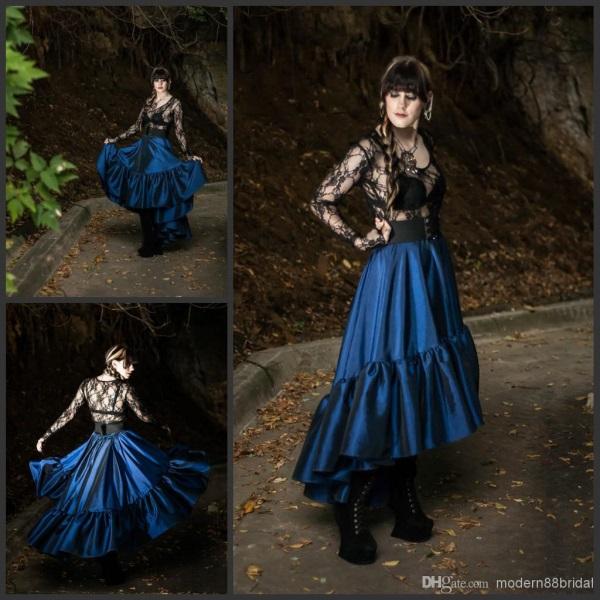Steampunk Wedding Gowns: Purple Steampunk Wedding Dress Looks