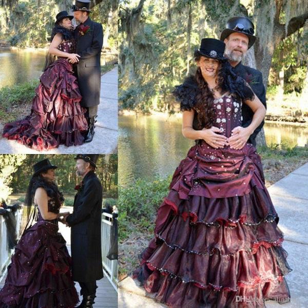 Purple steampunk wedding dress 2016-2017 | B2B Fashion