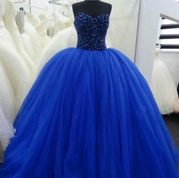 White And Royal Blue Wedding Dresses 2017-2018
