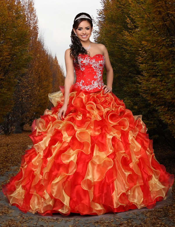 quinceanera dresses red and gold looks b2b fashion