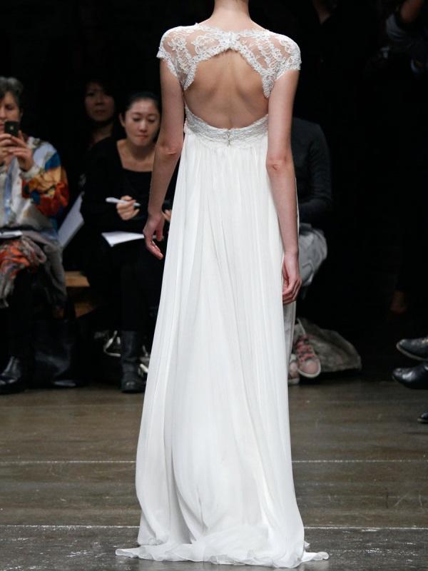 Reem acra blush lace wedding dress 2016 2017 b2b fashion for Add lace sleeves to wedding dress