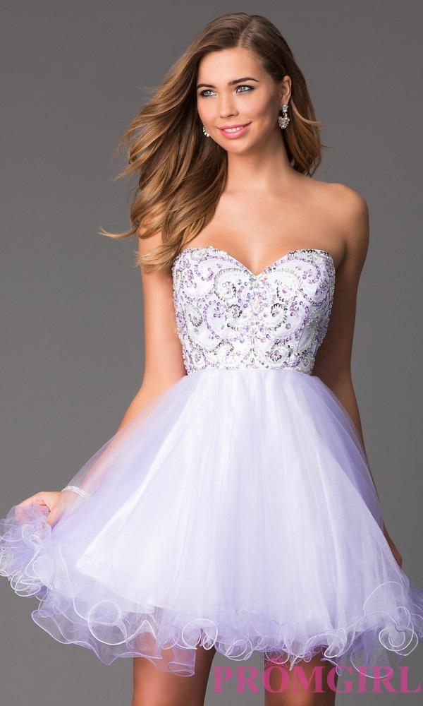 Short white prom dresses 2018