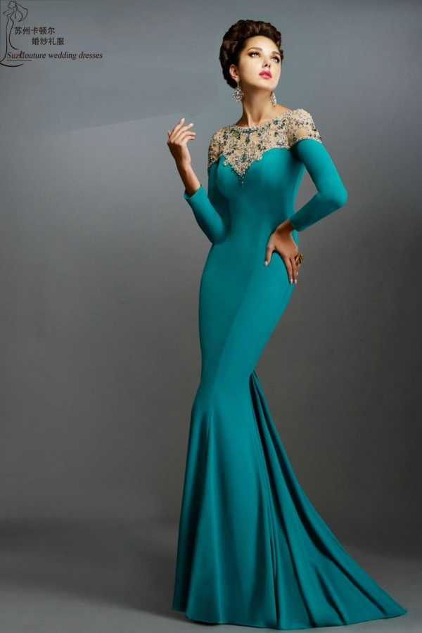 Beautiful Evening Gowns With Sleeves 2017 2018 B2b Fashion