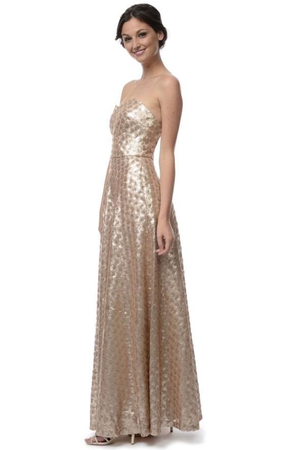 Champagne gold bridesmaid dresses 2016-2017