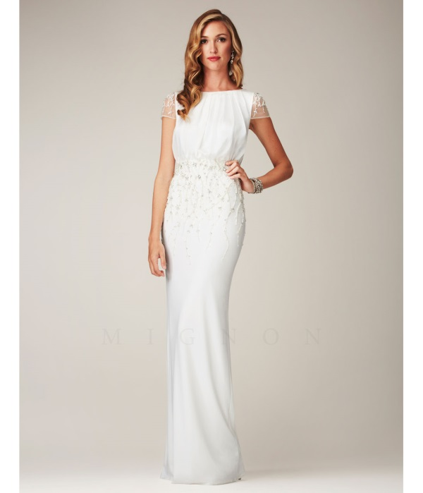 White maxi wedding dress