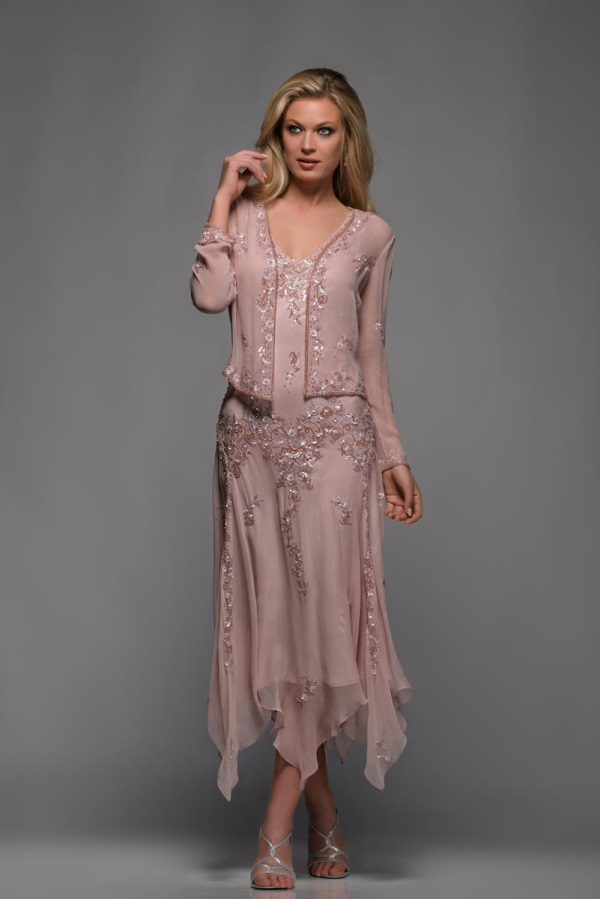 Mother of the bride dresses tea length lace looks | B2B ...