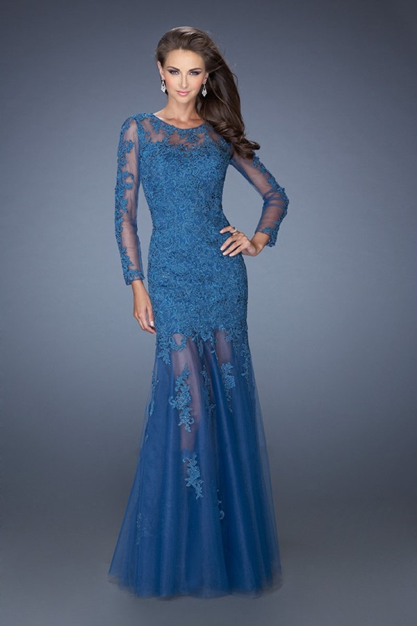 Long Sleeve Lace Prom Dress Looks B2b Fashion