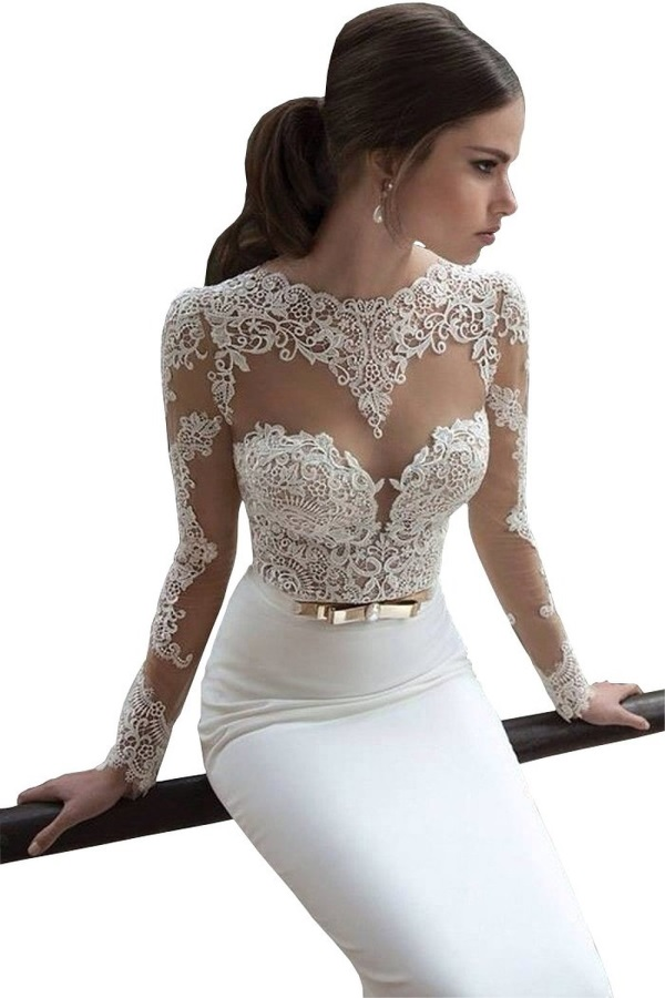 Long Sleeve Lace Prom Dress Looks B2b Fashion