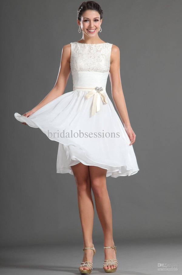 Cute White Dresses For Confirmation 2017 2018 B2b Fashion