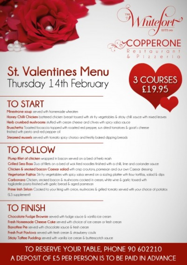 valentines day menu images looks