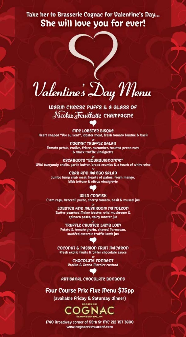 valentines day menu images 2016