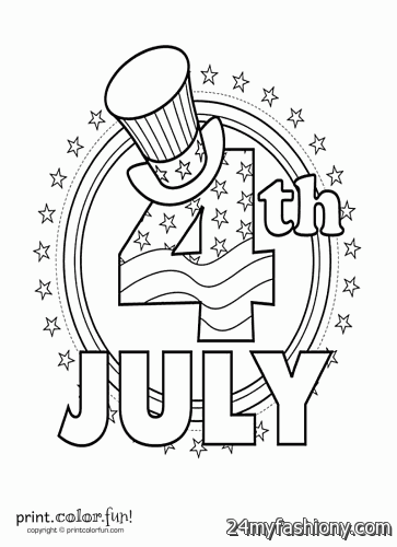 4th Of July Coloring Pages Pdf : Th of july coloring pages printable images