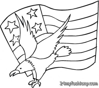 4th Of July Eagle Coloring Pages Images 2016 2017