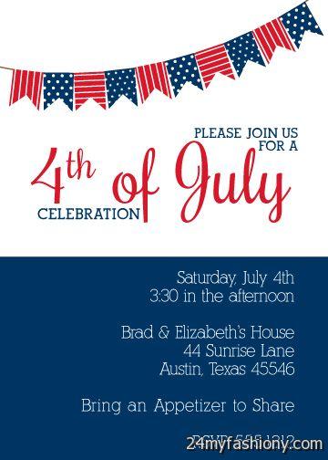 4th Of July Invitations Images Looks B2b Fashion