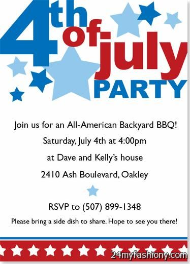 4th Of July Party Invitation Images Looks