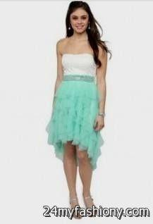 8th grade graduation dresses with straps high low looks | B2B Fashion