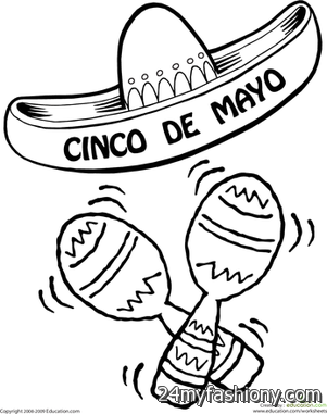 Cinco De Mayo Coloring Pages images looks | B2B Fashion