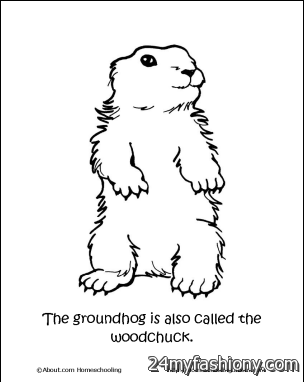 groundhog day coloring pages printable - Groundhog Day Coloring Pages Free Printable