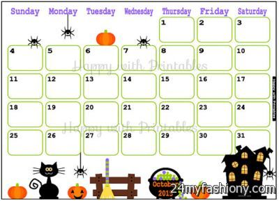 Halloween Calendar images 2016 2017 B2B Fashion - 2016 Halloween Calendar