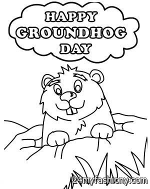 Happy groundhog day coloring page images 2016 2017 b2b for Ground hog coloring page