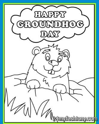 you can share these happy groundhog day coloring page on facebook stumble upon my space linked in google plus twitter and on all social networking - Groundhog Day Coloring Pages
