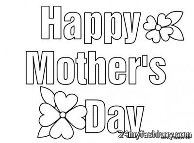 Happy Mothers Day Coloring Pages 2016 2017