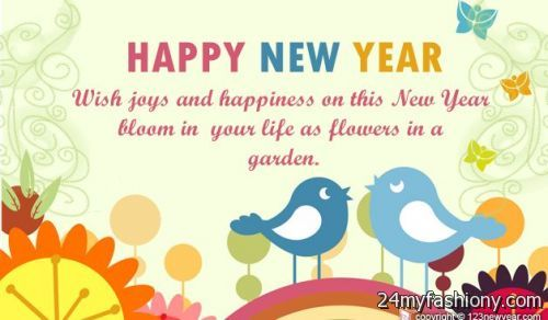 happy new year card message