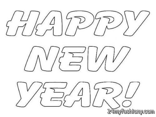 Happy New Year Coloring Pages For Kids Images Looks B2b Fashion
