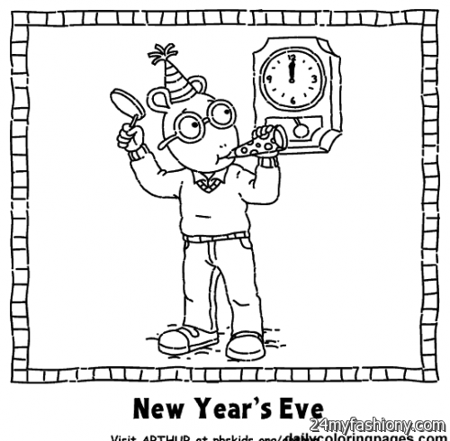 Happy New Year Coloring Pages Printables