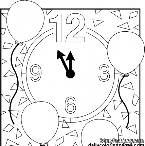 Happy new year coloring pages printables images 2016 2017 for Happy new year coloring pages 2016