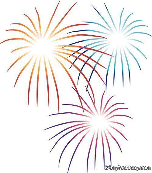 Fireworks New Year 2016 Clip Art