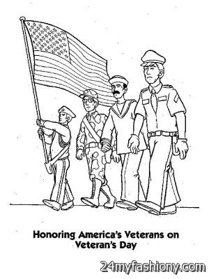 Happy Veterans Day Coloring Pages Images Looks B2b Fashion