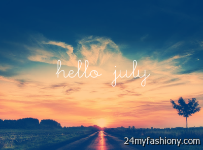 Charmant Hello July Facebook Covers