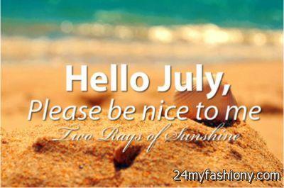 Hello July Summer