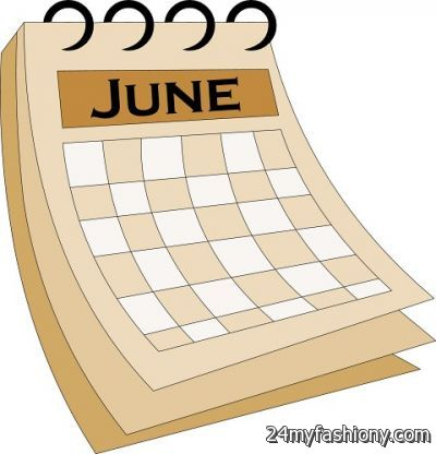 June Calendar Clip Art images 2016-2017 | B2B Fashion