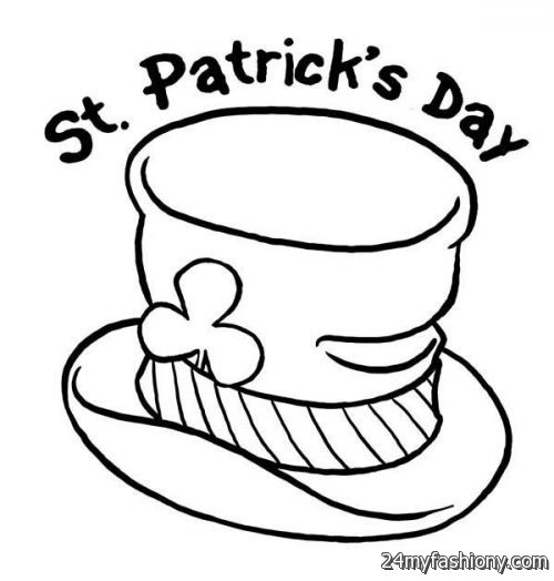St Patricks Day Hat Coloring Pages